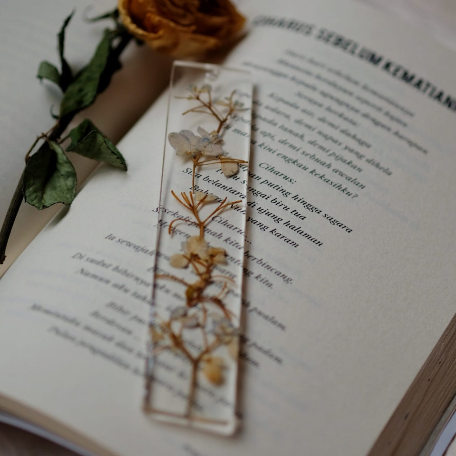real flower bookmark