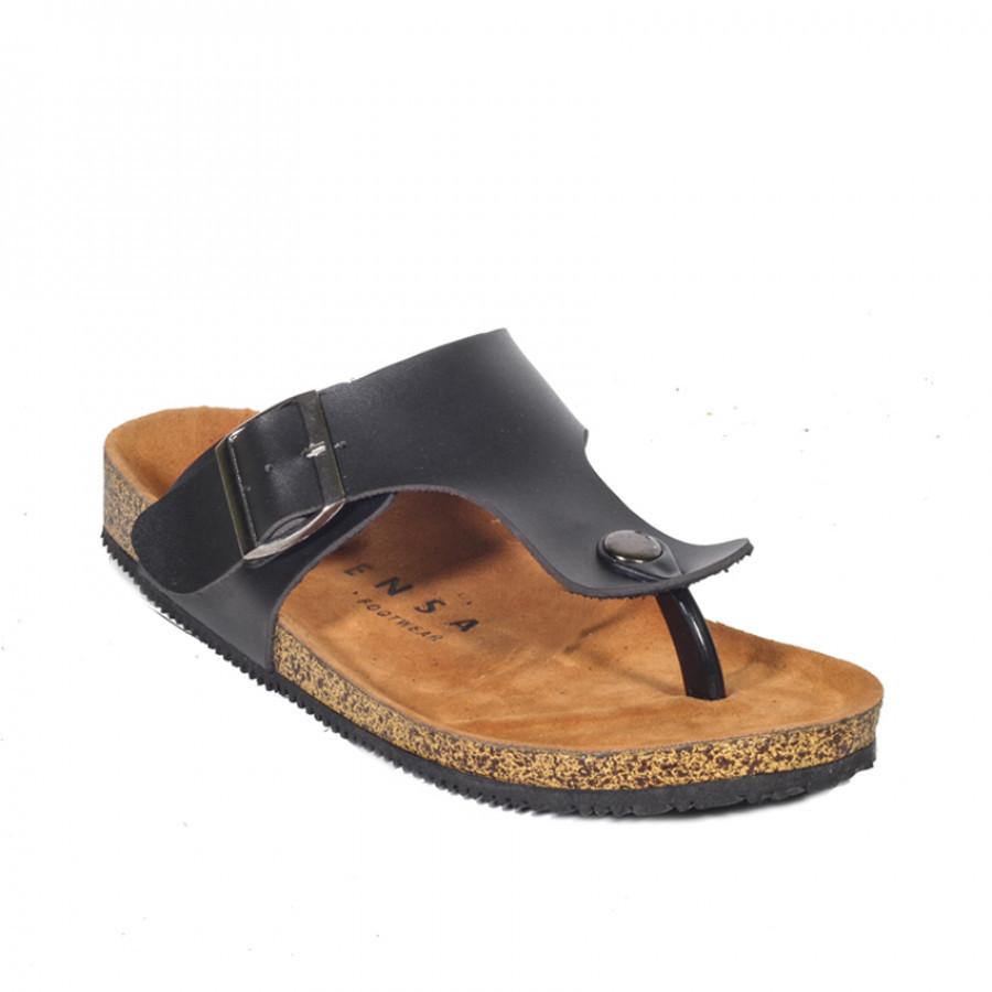 Zayn Black | Zensa Footwear Sandal Jepit Pria Casual