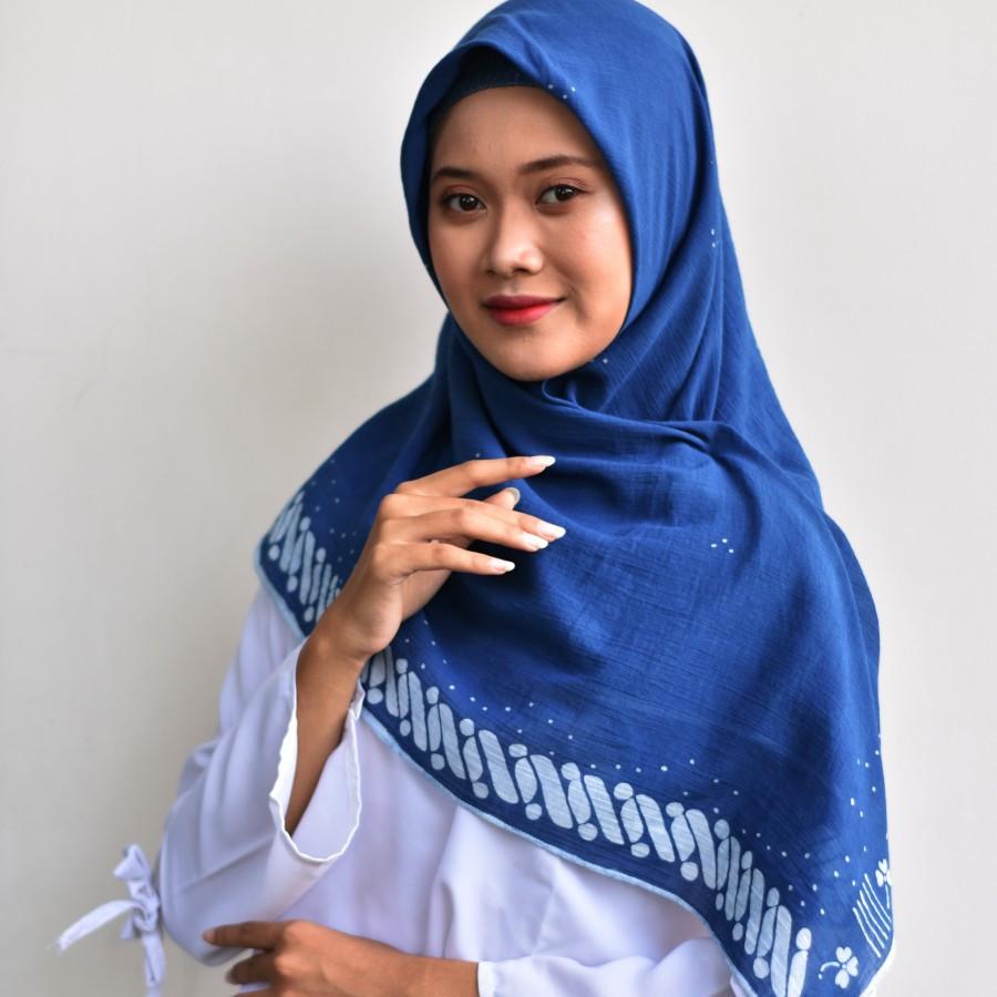Hijab Batik Tulis WINIH Indigo
