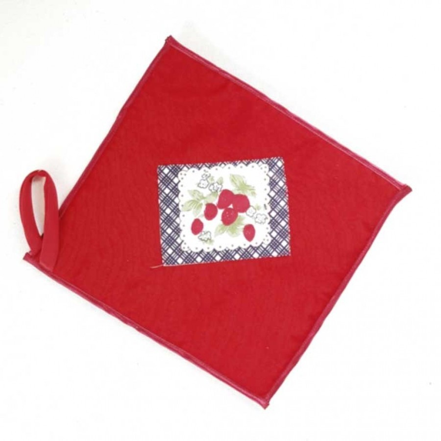 "Apron & Oven Mitts ""Shabby Strawberry"""