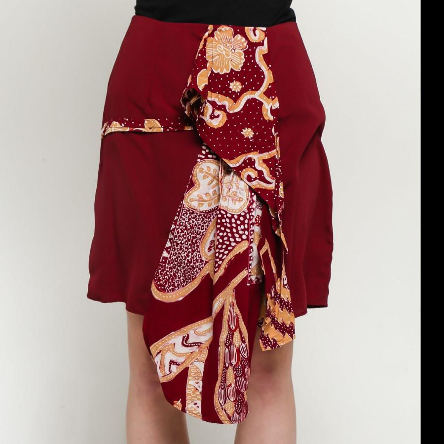 GESYAL Rok Batik Wanita Batik Asimetris