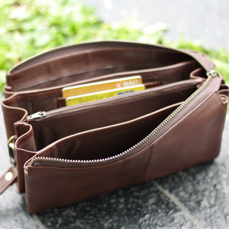 Platine - pouch kulit pull up