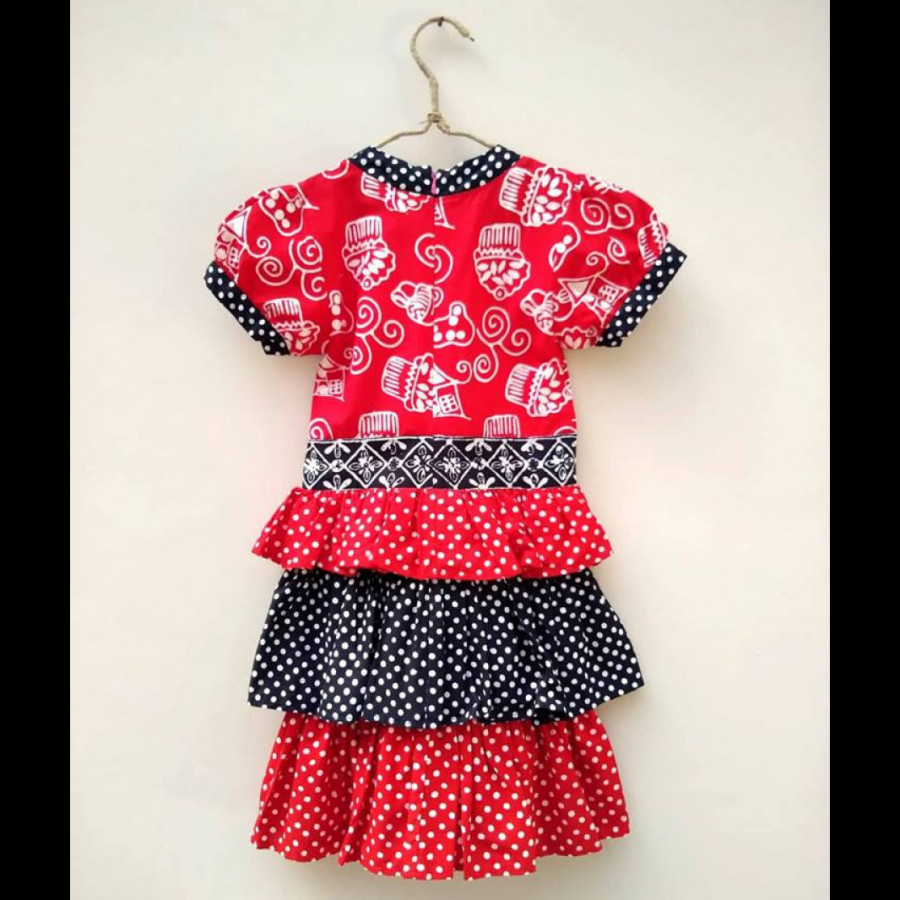 Dress Anak Batik Bunga Bakung CPK