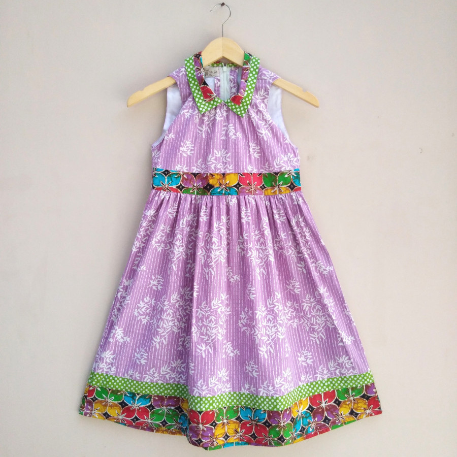 Dress Anak Batik Bunga Bakung YKS