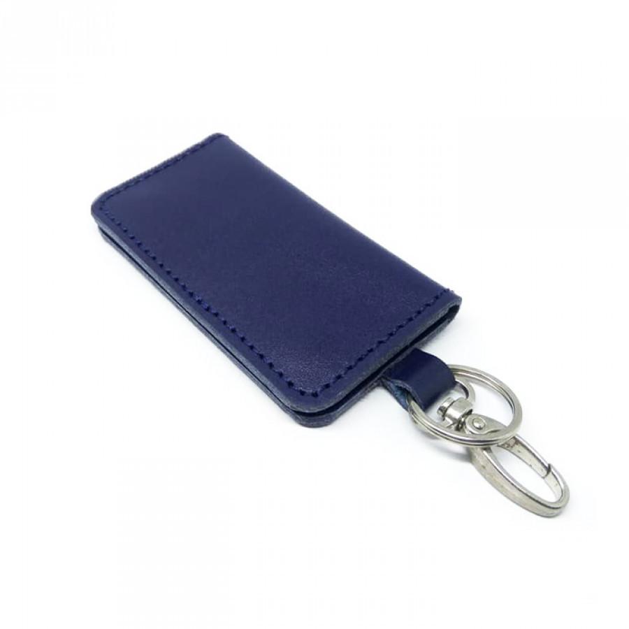 Dompet Stnk Kulit Asli Sapi Warna Biru GARANSI 1 TAHUN-Gantungan Kunci Mobil Atau Motor. Gantungan Kunci Kulit-