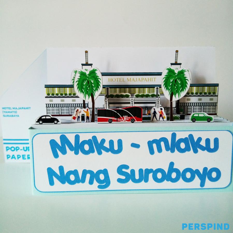 Pop Up Paper Hotel Majapahit (Yamato) Surabaya