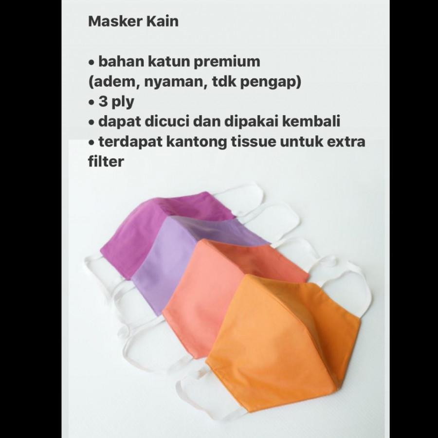 6 PCS Masker Kain 3 PLY Premium Quality (isi 6 pcs)