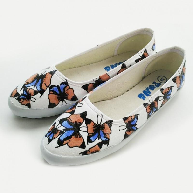 Sepatu Lukis Butterfly Pattern