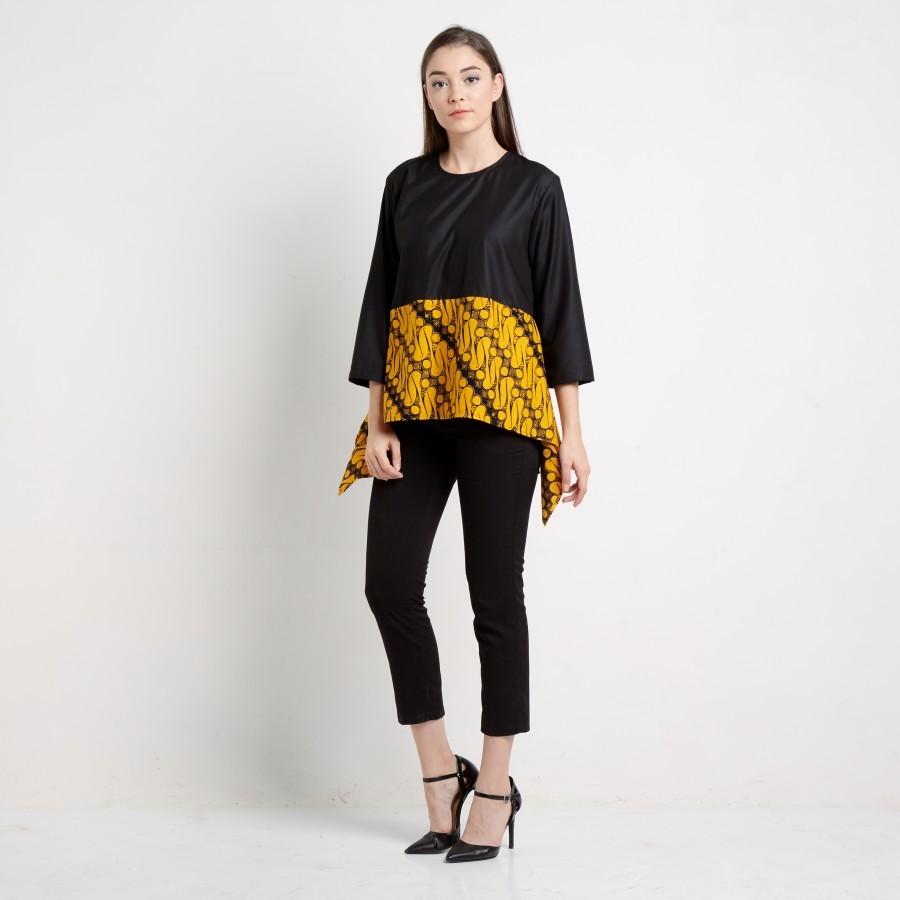 Batik Dirga Amunet Atasan Wanita / Blouse Batik - Yellow