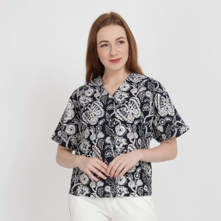 Batik Dirga Tegan Atasan Wanita / Blouse Batik - Black