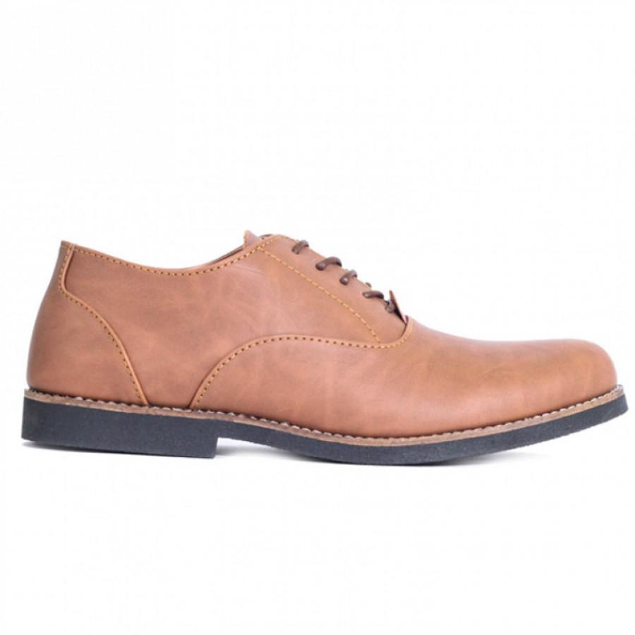 Lvnatica Sepatu Pria Pantofel Dembble Tan Formal Shoes