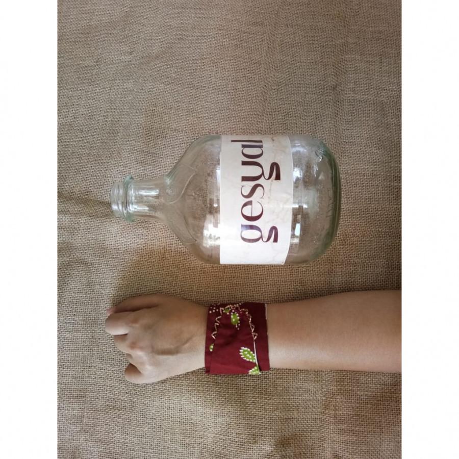 GESYAL Beads Tembaga Box Gelang Batik - Dark Maroon