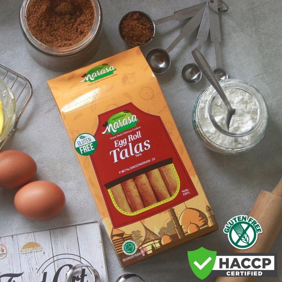 Gluten Free Biscuit Egg Roll TALAS - Dus - Pawon Narasa