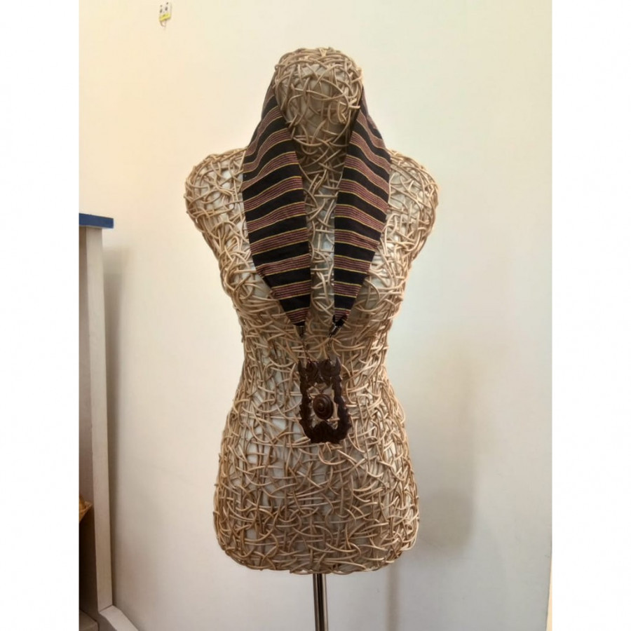 Kalung Batik Kalung Handmade Kalung Unik Batik Kalung Gamelan Kalung Gong Gesyal Hitam