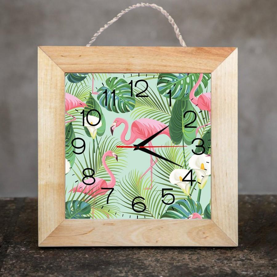 Jam Dinding Dekorasi Rumah/Kamar 25x25 Flamingo 01