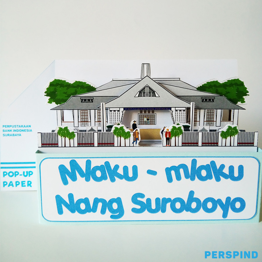 Pop Up Paper Perpustakaan Bank Indonesia Surabaya