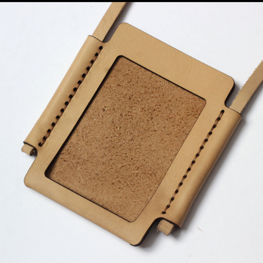 ID Card Holder - Natural/Tan