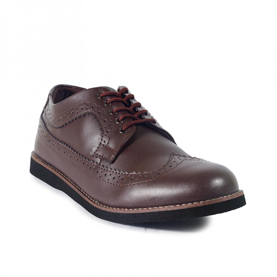 Blaze Brown   Zensa Footwear Sepatu Formal Pria Pantofel Shoes