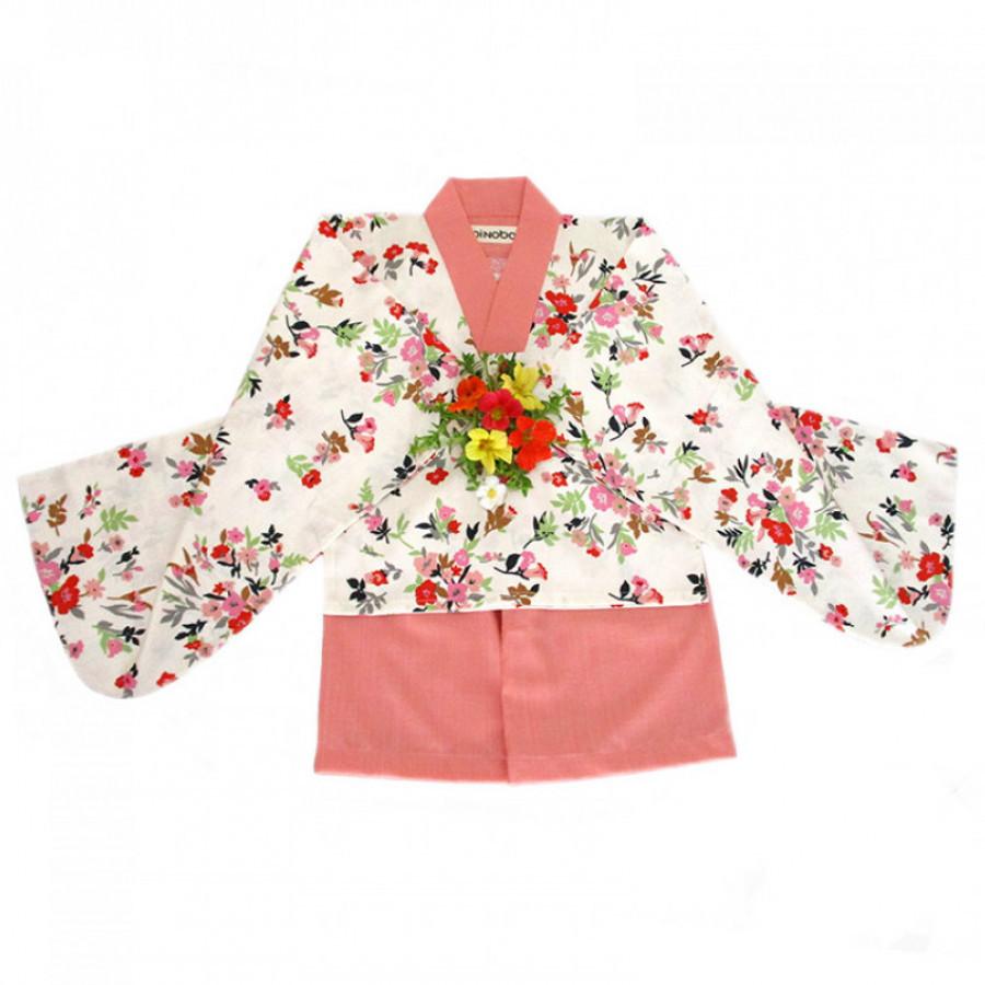 Koinobori Flower Bouquet Instant Kimono Setelan Anak Wanita