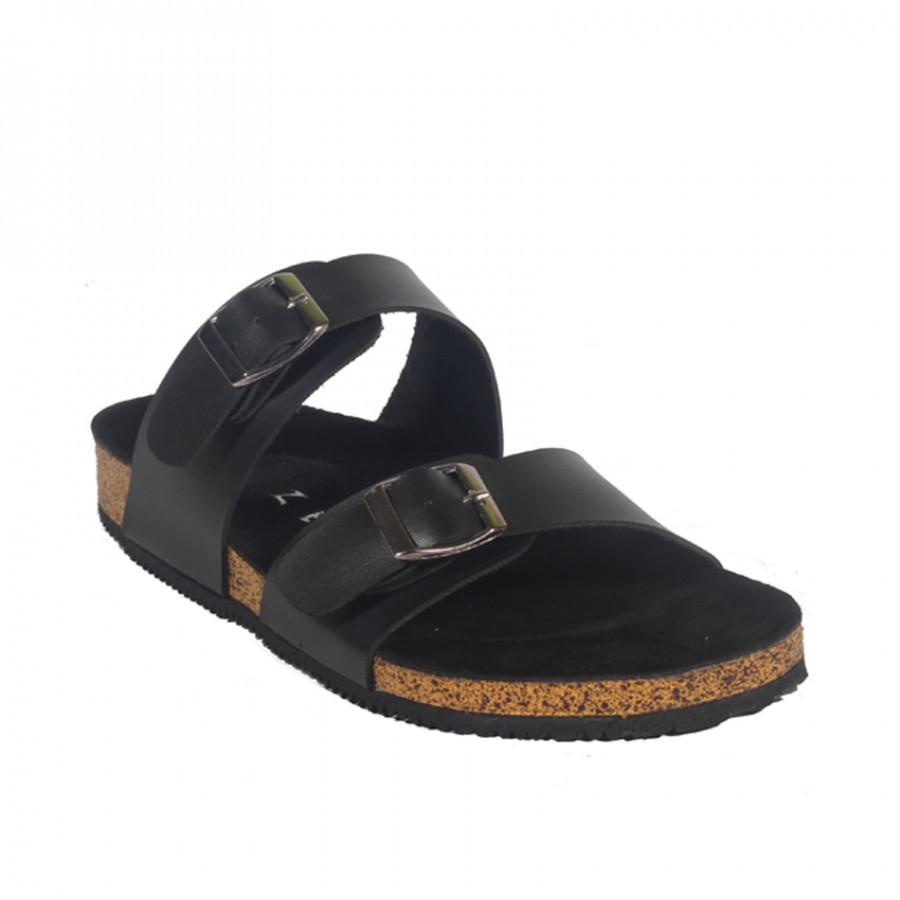 Xander Full Black | Zensa Footwear Sandal Jepit Pria Casual