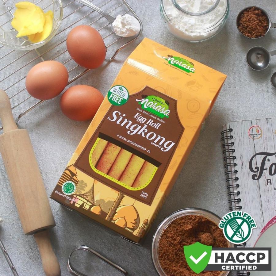 Gluten Free Biscuit Egg Roll SINGKONG - Dus - Pawon Narasa