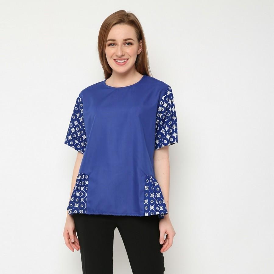 Batik Dirga Himalia Atasan Wanita / Blouse Batik - Blue