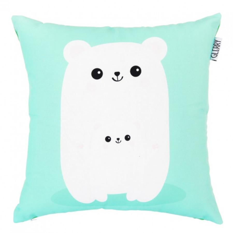 Polar Bear's Family Cushion 40 x 40