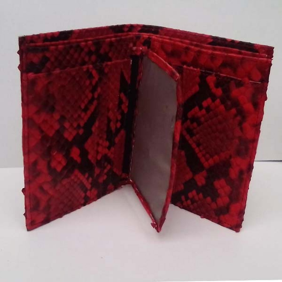 Dompet Pria Kulit Asli Ular Phyton Model Tegak Warna Merah - Ku Ka a957085034