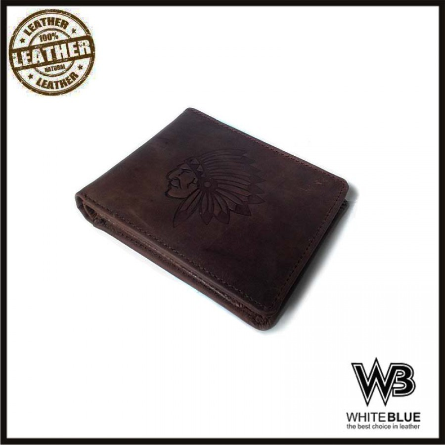 Dompet Pria Kulit Asli Model Bifold Warna Coklat( Dompet Kulit Asli)
