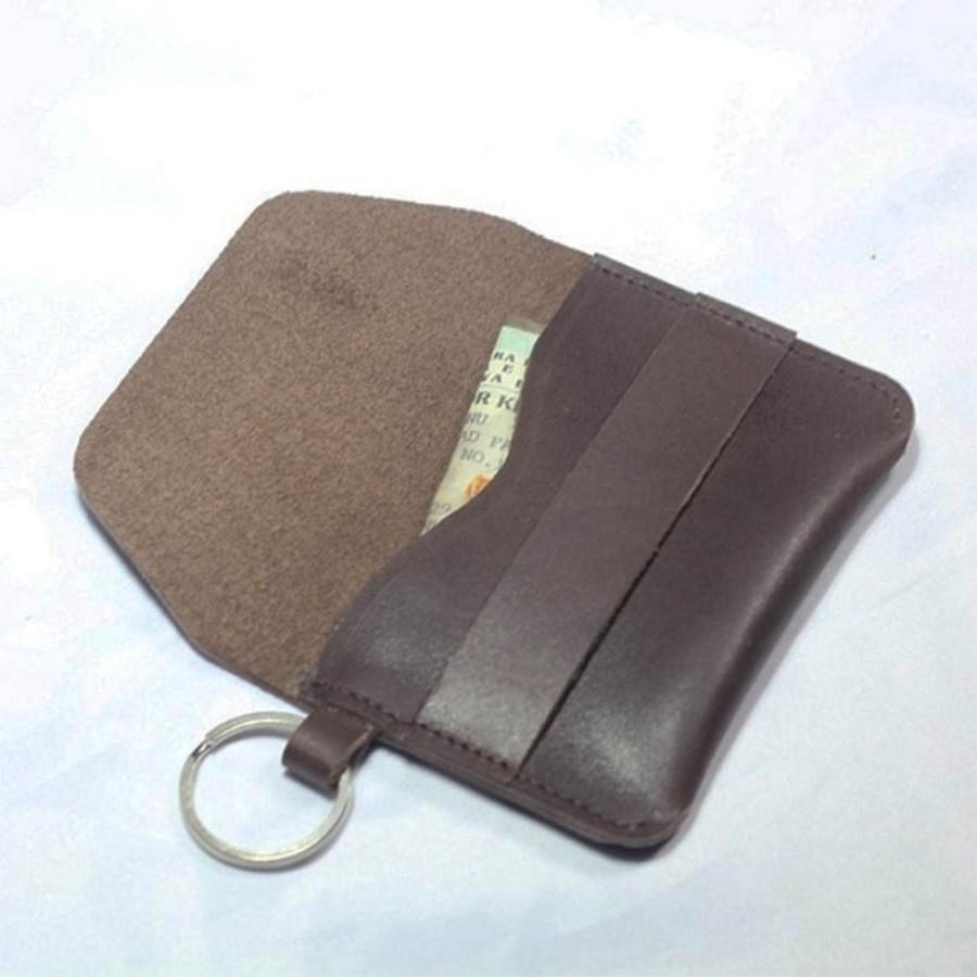dompet stnk kulit asli sapi warna coklat tua (gantungan kunci mobil)