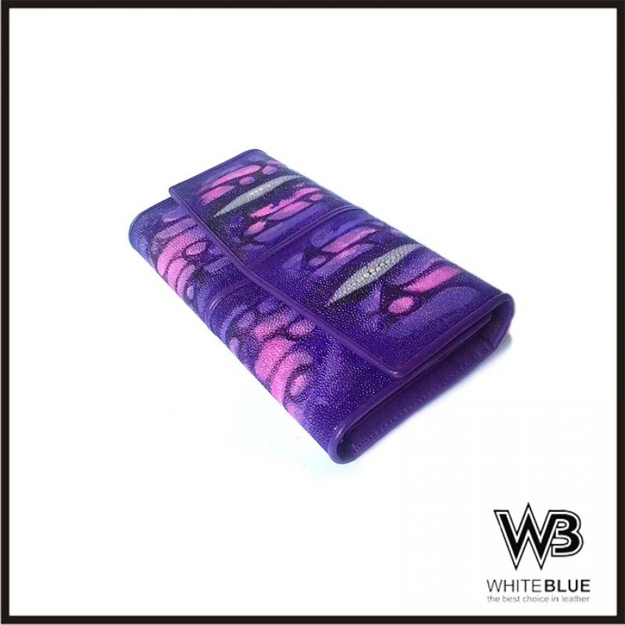 Dompet Pari Wanita Finishing Lukis Model Trifold