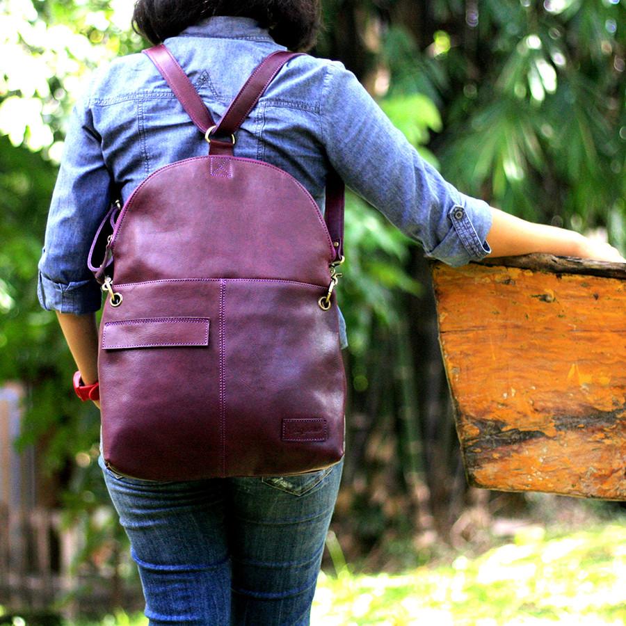Turtle - Tas kulit ransel wanita