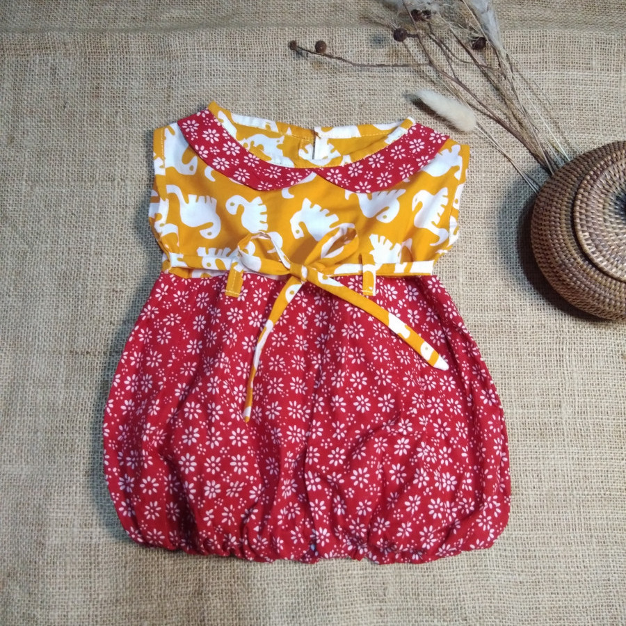 Dress Anak Batik Cap BL 02