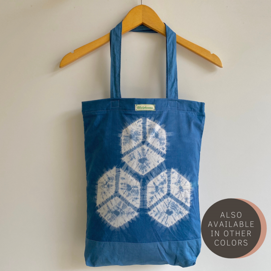 Natural Dye Jumputan Tote Bag - Balok