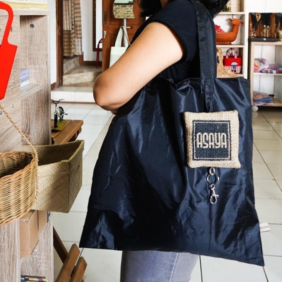 Tas Lipat Asaya Bahan Goni / Burlap dan Parasut Folded Bag