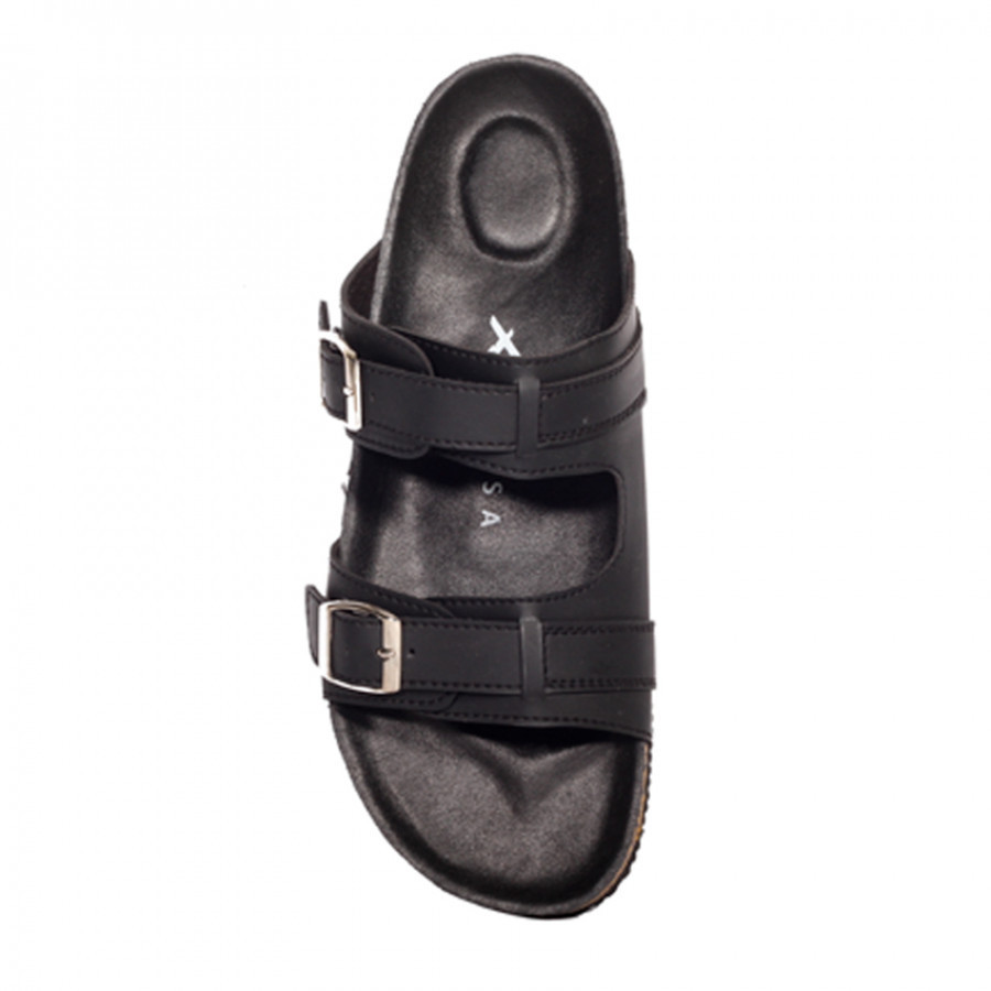 Gabriel Full Black   Zensa Footwear Sandal Jepit Pria Casual