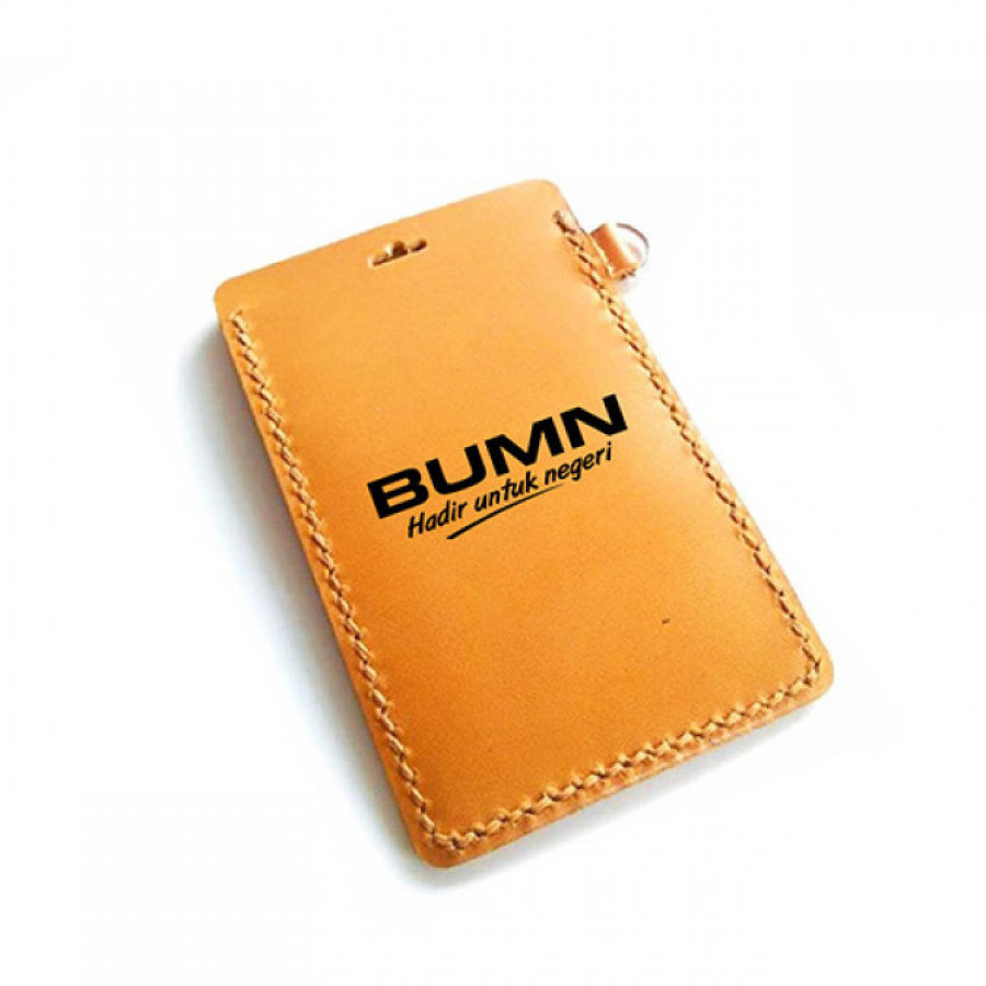 Name Tag Kulit Logo Perusahaan Gas Negara Dan Logo BUMN Garansi 1 Tahun - Tempat Id Card. Gantungan Id Card