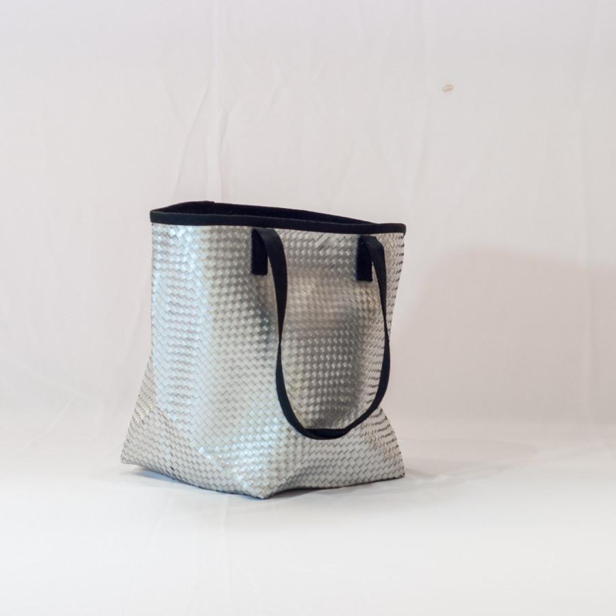 Tas daur ulang / recycle bag - Beach Bag (Silver)