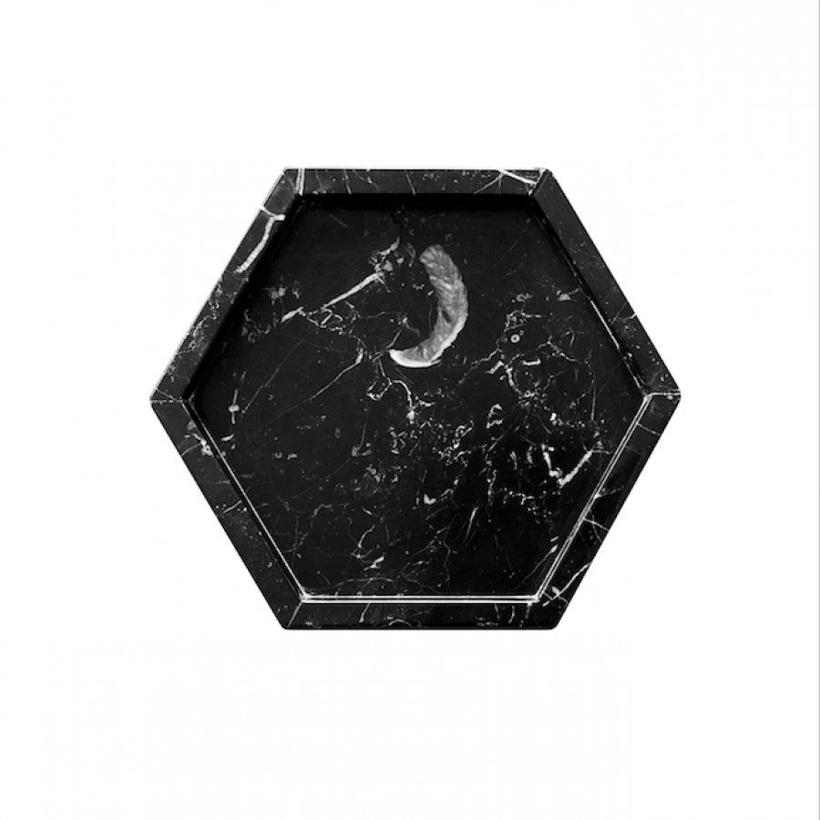HexTray Black Zircon Marble D25