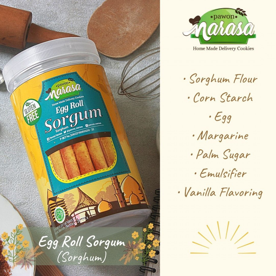 Snack Gluten Free Egg Roll SORGUM - Toples - Pawon Narasa