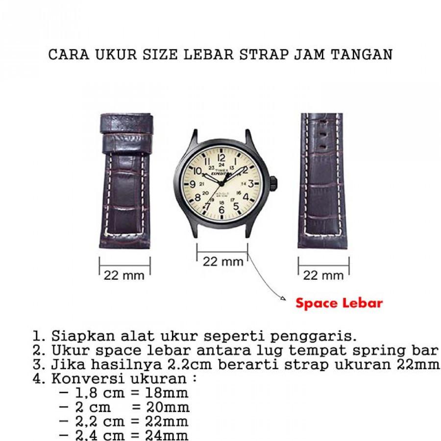Tali Jam Tangan Kulit Asli Size 16 mm. 18 mm. 20 mm. 22 mm. 24 mm Warna Coklat Garansi 1 Tahun - Model One Piece