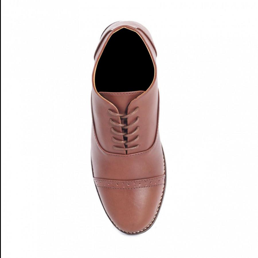 Lvnatica Sepatu Pria Pantofel Oxford Brown Formal Shoes