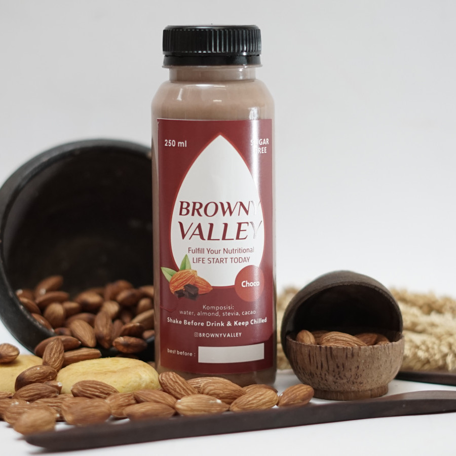 Susu almond rasa choco