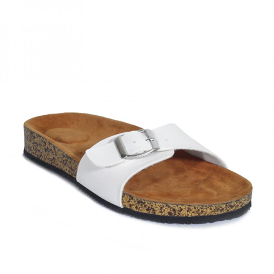 Zensa Footwear Hestia White Sandal Slipper Wanita Original