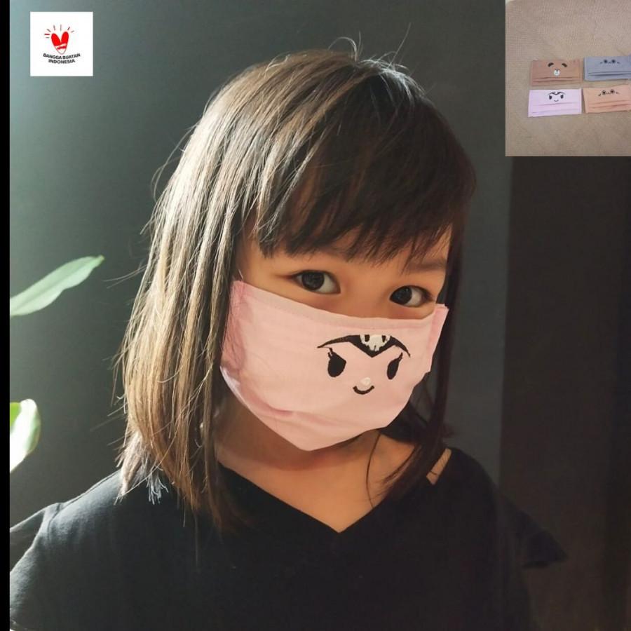 GESYAL Masker Balita Bordir 2 Ply Set -Nyaman digunakan dari katun