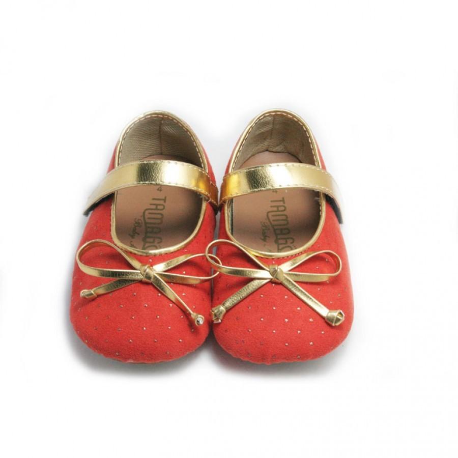 Tamagoo Sepatu Bayi Perempuan Baby Shoes Prewalker Kate Denim Masson Silver  Branded 3 6 Bulan Nicole Orange Murah