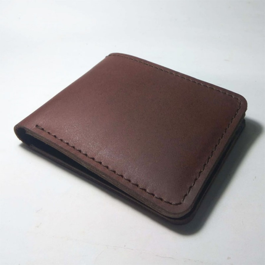 Dompet Pria Kulit Asli Sapi Handmade Model Bifold Warna Coklat - Ku Ka 3deff5607d