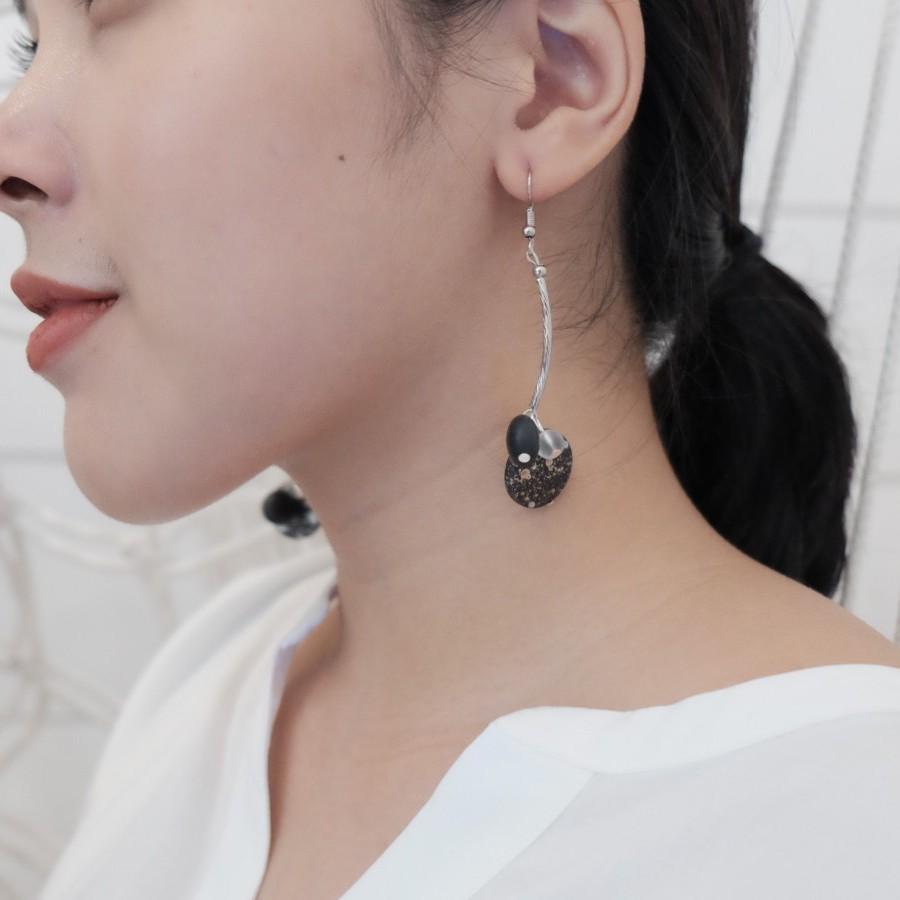 NINA EARRING black silver