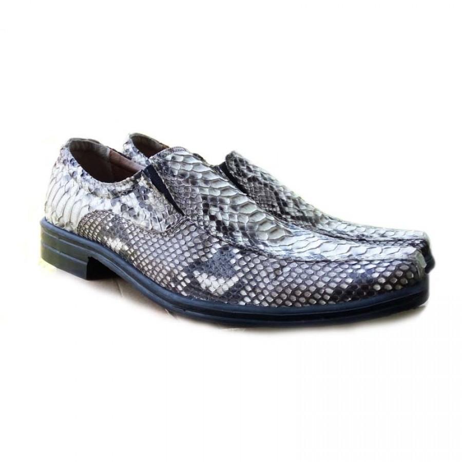 sepatu pria kulit asli ular phyton warna natural model pantofel - Ku Ka 390b583049
