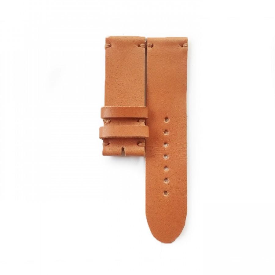 Tali Jam Kulit Asli Handmade Warna Tan Size 22 mm (Leather Strap)